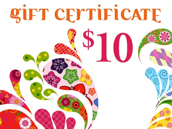 Gift Certificate toward any item