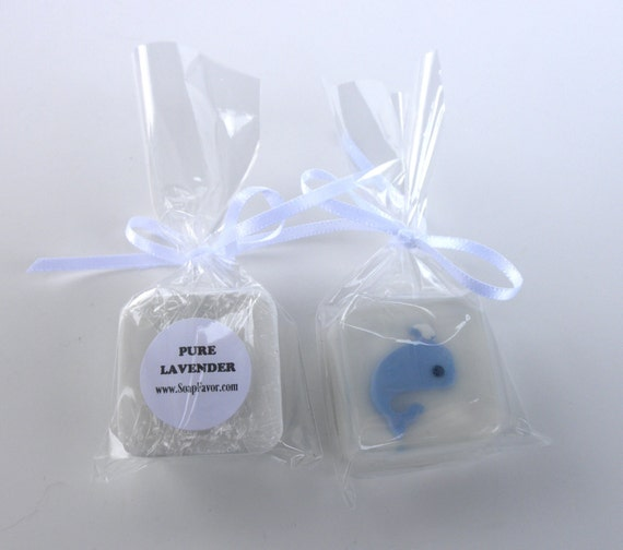 SPECIAL SALE Blue Whale Soap Favors for Baby Shower, 1st birthday, boy's birthday party