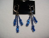 Sky Blue Fancy Dangle Earrings