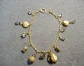 Abalone and Jasper Charm Bracelet