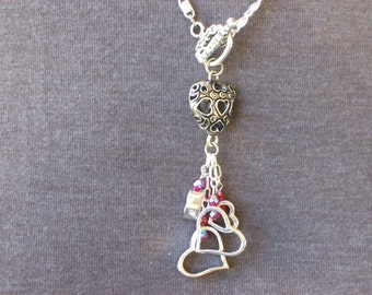 Front Toggle Heart Pendant Necklace