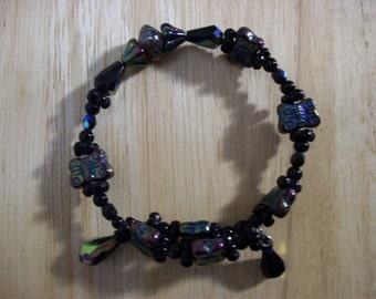 Aurora Borealis Butterfly Bracelet