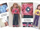 Play clothes pattern for Hopscotch Hill Doll by Kdys Sent PDF Format