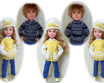 Knit Sweater and Hat Pattern for BFC Ink Large Doll Sent PDF Format