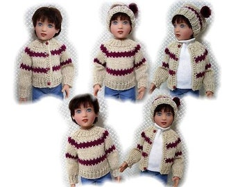 Sweater, Hat & Scarf Pattern for Kish Phoenix Sent PDF Format