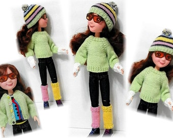 Knit Sweater & Accessories Pattern  for Little Miss Matched Tonner Doll Sent PDF Format