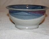 bowl blue white and magenta