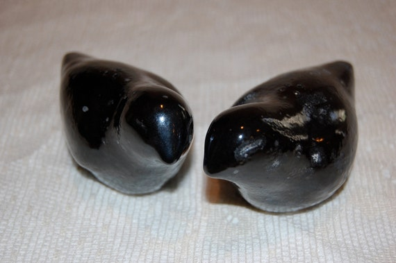 bird salt and pepper shakers black