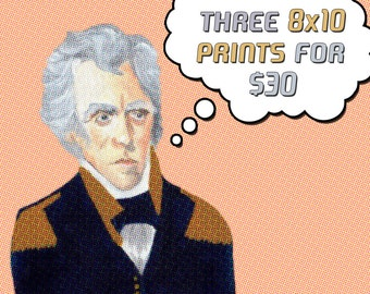 Funny pun art // Your choice - Any three 8x10 prints