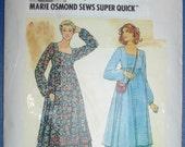 BUTTERICK 6264 / Vintage 1980s / Misses' Dress / Marie Osmond Sews Super Quick / Sizes 8 - 10 - 12 / UNCUT