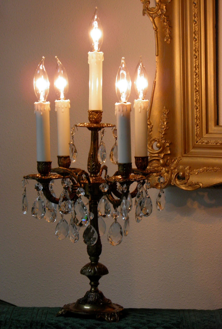 Table Chandelier Electric Candelabra Antique Candelabra