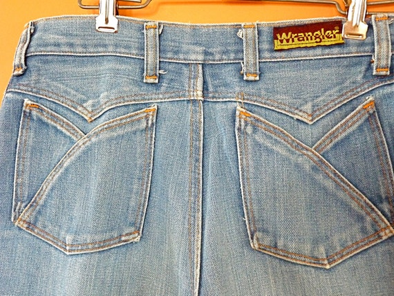 Vintage 1970s Wrangler Jeans Denim Bell Bottoms 29 x 31