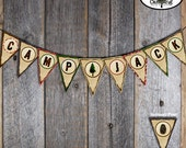 Camping Bunting Banner - Campout Birthday Party - Customized Printable (Camp, Campout, Camp Out, Outdoor Adventure, Lumberjack Birthday)