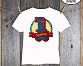 Carnival Party - Circus Party - Shirt Iron On Transfer - Customized Printable (Vintage Inspired)