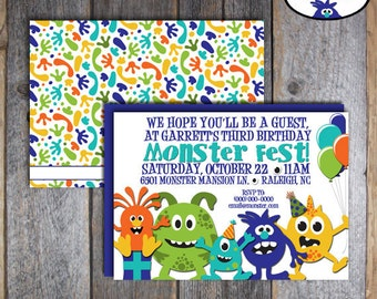 Monster Invitation | Monster Invite | Monster Birthday Invitation | Monster Birthday Invite | Monster Bash Invitation | Printable