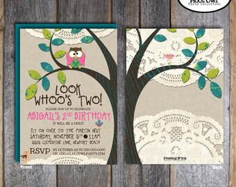 Owl Invitation | Owl Party Invitation | Owl Birthday Invitation | Night Owl Sleepover Invitation | Woodland Birthday Invitation | Printable