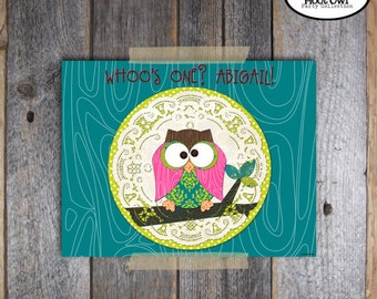 Owl Placemat - Hoot Owl Birthday Party - Night Owl Party - Placemat - Customized Printable (Pajama Party, Woodland)