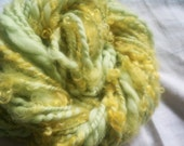"SALE Lock Monster ""Easter Grass"" - bulky art yarn 40yds short skein"