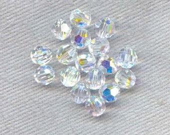 20 Pieces Swarovski Crystal Round Crystal AB 5mm