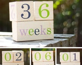 The Original Cute and Colorful Baby Age Blocks - Fun Photo Prop and Unique Baby Shower Gift - Featured in American Baby Magazine