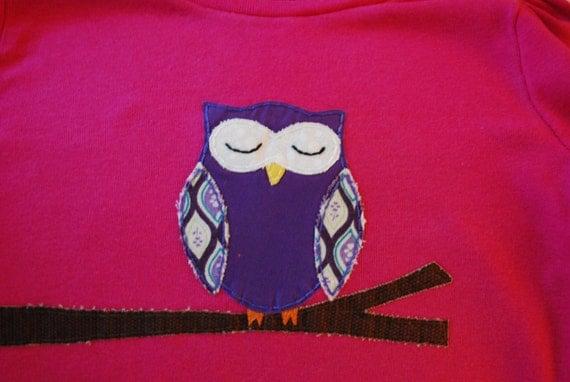 Owl applique t-shirt