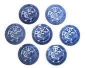 Vintage Blue Willow Transferware Plate Collection, Chinoiserie, Hollywood Regency