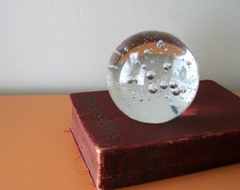 Large Vintage Glass Orb Paperweight