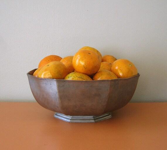 Large Gorham Pewter Octagonal Bowl, Octette Collection