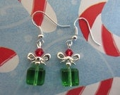 A gift wrapped for Christmas-earrings