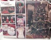 Vogue 2776, Christmas ornaments, wreath, santa pillows, angels, tree skirt