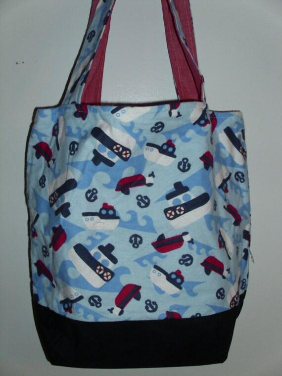 Handmade Diaper Bags : Items similar to handmade tote bag diaper ships