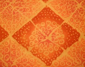Bright Rust and Orange Retro Fabric 1 Yrd