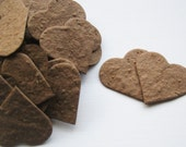 """READY-TO-SHIP***  1"""" Earth Brown Plantable Seed Paper Confetti Hearts - Eco Friendly, Wedding Favors, Bridal Shower Favor, Baby Shower Favor"""