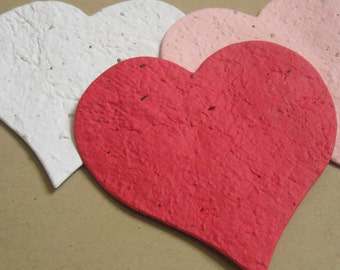 80 Plantable Seed Paper Hearts - Large Size (3x3)