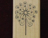 Patriotic Rubber Stamp Fireworks Sparkler 4th of July Wood Mounted Stamp new Good Stamps-Stamp Goods