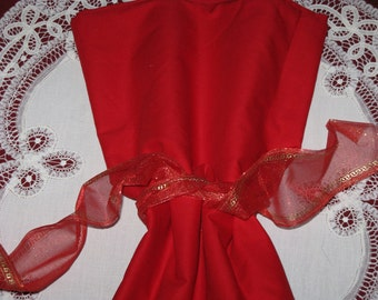 """Vintage Cotton Fabric RED  - Solid Color for Quilt, Sewing or Crafts 2 Yards 42"""" Wide BEAUTIFUL"""