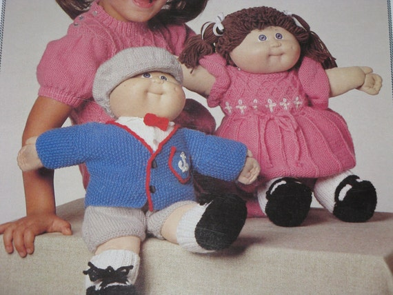 Knitting Patterns For Cabbage Patch Dolls : Vintage Patons Cabbage Patch Doll Clothes Knit by corgipal on Etsy
