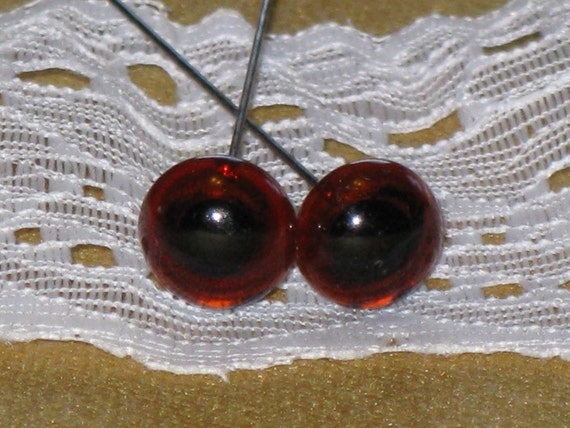 Vintage Old Glass Eyes Amber For Teddy Bears Stuffed Animals