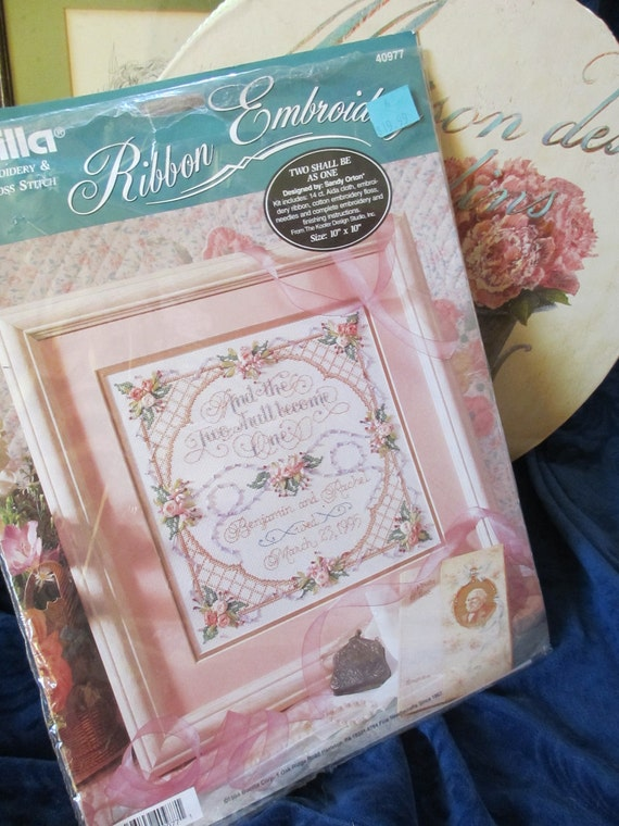 Items similar to bucilla ribbon embroidery and cross