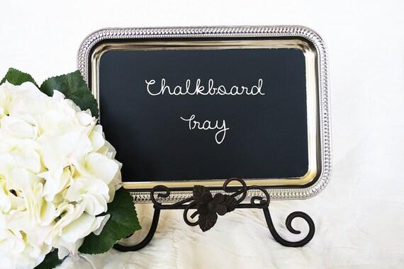 silver chalkboard tray  silver blackboard tray magnetic tray