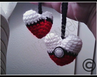 Pokemon Crochet Heart