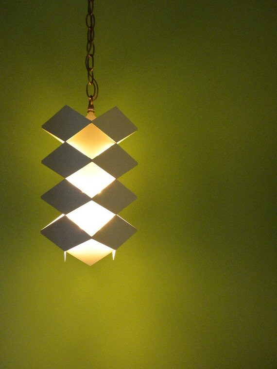 RESERVED for MonkeyDan - Mid Century Danish Pendant Hanging Lamp