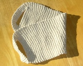 Ecru Knit Cotton Back Scrubber