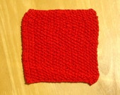 Red Knit Cotton Cloth