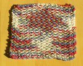 Knit Cotton Cloth - Field Of Dreams (Blue, Red, Green & White)