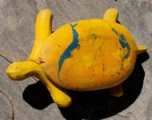 RESERVED for Herve Antique Folk Art Turtle Pull Toy
