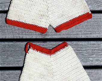 Vintage Crocheted Bloomers Potholders or Pot Holders