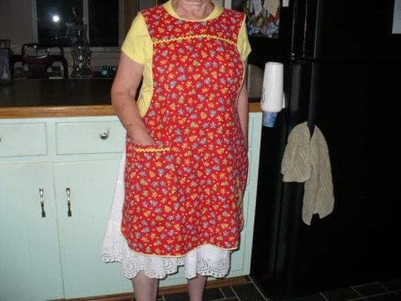 Full Red and Yellow Apron