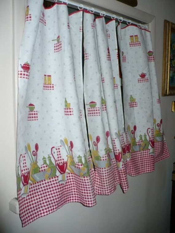 retro kitchen curtains red white retro kitchen curtains set of 3