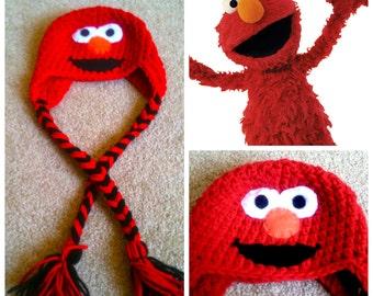 Crochet Elmo Beanie/Hat